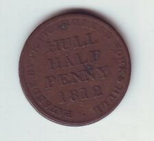 1812 Half Penny Trade Token LK Picard Hull Lead Works UK British H-1075