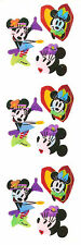 Sandylion Vintage Pearly Disney Minnie Mouse Stickers 3 Squares RETIRED