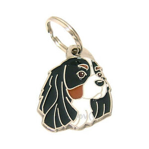 Breed dog ID tag, Cavalier King Charles Spaniel, Personalized, Stainless Steel