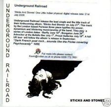 (I82) Underground Railroad, Sticks & Stones - DJ CD