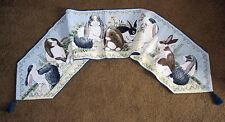 Rabbit's Parade II ~ Easter Bunny Rabbits Tapestry Table Runner