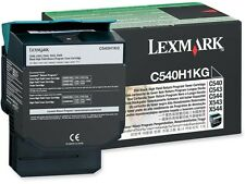 1 x Lexmark Original OEM Black High Capacity Laser Toner Cartridge C540H1KG