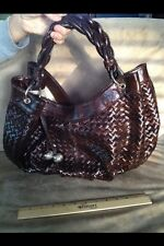 Womens Stylish Everyday Handbags Dark Brown Shoulder Bag. LARGE SIZE Fits Lots.