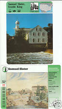 SAMUEL SLATER Textiles Mill Rhode Island STORY OF AMERICA 2 CARDS