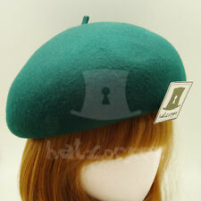 FASHION Wool Felt Women Soft Beret Hat Ladies Pillbox ROYAL Party   56cm   Green