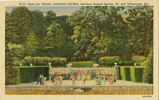 Postcard Delaware Wilmington Longwood Gardens Open Air Theatre 40s Unused