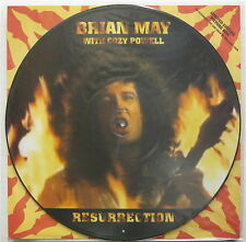 """BRIAN MAY With COZY POWELL Resurrection 1993 UK Only 12"""" PICTURE DISC Queen MINT"""