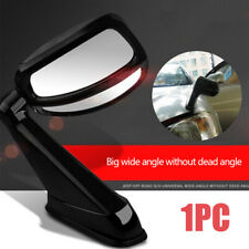 1PC Car Left Side Hood Blind Spot Wide-view Mirror Panoramic Lens Wide Angle SUV