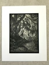Haunted Forest Woodland Landscape Atala Chateaubriand Fantasy Art Antique Print