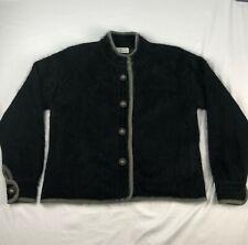 VTG SHINE 80% ANGORA black button up WOMENS XL cardigan SWEATER/JACKET