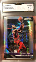 LEBRON JAMES Prizm Silver Hyper Refractor SP 2018 10 GEM MINT Lakers HOF MVP
