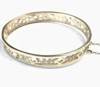 Vintage Hallmarked Sterling Silver Modernist Design Bangle Braceelet Gift Boxed