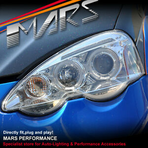 Clear LED Angel-Eyes Projector Head Lights for Honda Integra DC5 01-04 & TYPE R
