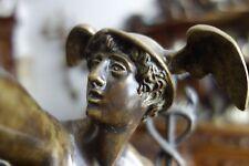 Greek Bronze Statue Marble Base Hermes Mercury