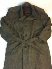 Vintage Harris Tweed Jacket Alexandre Of England Handwoven Wool Trench Overcoat