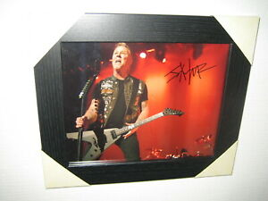 James Hetfield ; Excellent Hand Signed Photograph {8x10} Framed With CoA