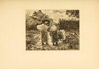 Reduced! Camille Pissarro Original Etching 1892 Very Rare
