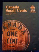 Whitman Canada Small Cent #1 1920-1988 Coin Folder, Album Book #2479