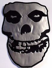 misfits skull EMBROIDERED SEW  OR IRON   BACK PATCH