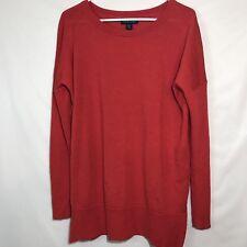 Cynthia Rowley Red Merino Wool Long Sleeve Sweater sz XL