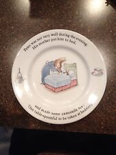 Rare Wedgwood Beatrix Potter Designs Peter Rabbit Collectible Plate England