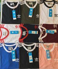Adidas Originals Men's T-Shirt California Crew Neck Retro stripes Short Sleeve