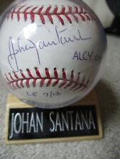 JOHAN SANTANA LIMITED EDITION 7/12 MLB AUTOGRAPHED BASEBALL INSCRIBED ALCY 04-06