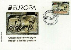 MACEDONIA NORTH 2020 EUROPA - ANCIENT POSTAL ROUTES  FDC