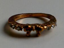 Lovely Sparkly Bronze Coloured Bow Ring. FREE POSTAGE