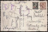 s1661) Österreich Autogrammkarte Fussball Wacker Wien in Belgien 50er Jahre
