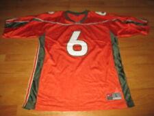Nike UNIVERSITY of MIAMI HURRICANES No.6 (LG) Football Jersey ORANGE