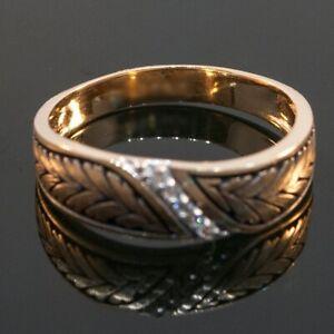 0.10CT Round Cut Diamond 14K Gold Over Men's Five Stone Vintage Engagement Band