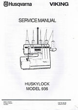PDF Husqvarna Viking Huskylock 936 Serger Overlock Service Repair Manual Book