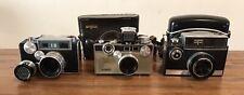 New Listing3 Vintage 1940s Argus C3 Matchmatic, C33 & Autronic Ii 35Mm Film Cameras - Work