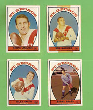 1968 SERIES 1 SCANLENS ST  GEORGE  RUGBY LEAGUE TEAM CARDS, ALL 4 CARDS