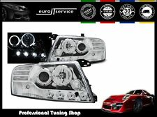 FARI ANTERIORI HEADLIGHTS LPMI07 MITSUBISHI PAJERO V60 2001-2005 2006 ANGEL EYES