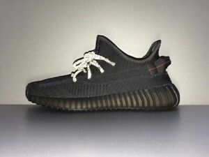 Adidas Yeezy Boost 350 V2 Static 3M Running Trainers Shoes All Black