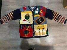 Alexandra Bartlett Womens Large Welcome Back School Teacher Sweater