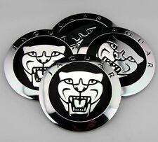 "4x 56mm 2.2"" Car Wheel Center Hub Cap Emblems Badge Decal for Jaguar Leopard NEW"