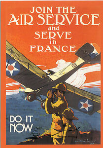 """Kunstkarte: Plakat """"Join the Air Service and serve in France - Do it now""""   USA"""