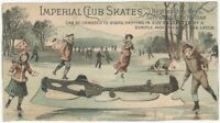 Imperial Club Skates Victorian Trade Card with Winter Pond Scene