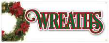 Wreaths Banner Fresh Smells Holiday Lights Ornaments Retail Store Sign 36x96
