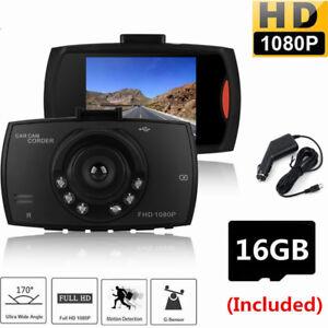 "2.4"" LCD Camera HD 1080P Car DVR Video Dash Cam Recorder G Sensor With SD Card"