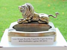 Novelty Lion Shape Ashtray With Refillable Lighter USA Stocked And Shipped