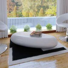 vidaXL Mesa de Café de Fibra de Vidrio de Colores Brillantes Blanco/Negro