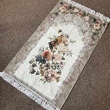 Bazachi Digital Floral Cotton Prayer Rug(Adult)-Large Prayer Mat-125x67cm-Coffee