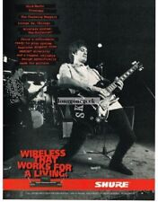 1995 Shure Wireless Guitar Connections Skid Marks Charming Beggars Magazine Ad
