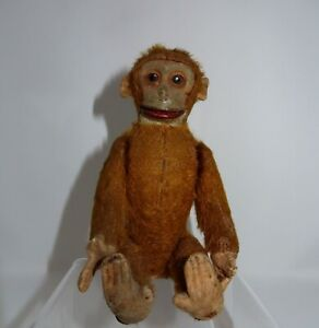 """Super RARE Schuco Sitting Levered Monkey Toy, 6 1/4"""" inches in Height!"""