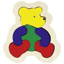Goki Einlegepuzzle Setzpuzzle Bär Bärchen Tierpuzzle Kinderpuzzle Holzpuzzle