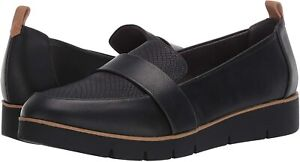 Dr. Scholl's Womens Webster Leather Closed Toe Loafers, Black, Size 7.0 Otkk